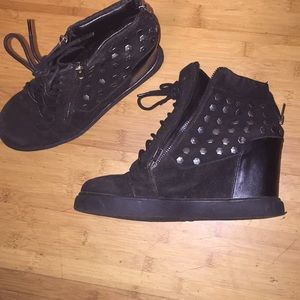 Black Studded Wedges Size 10)From Shoe Republic LA